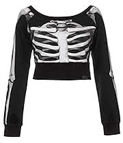 Kill Star Skeletor Crop Top (Black)