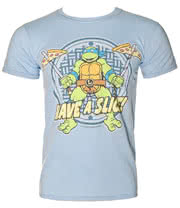 Teenage Mutant Ninja Turtles Have A Slice T Shirt (Blue)
