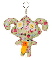 Blue Banana Large Floral Ragdoll Keychain (Green)