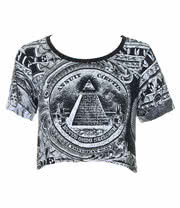 Kill Star Dollar Crop Top (Black)