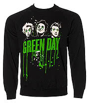 Green Day Drips Sweatshirt (Black)