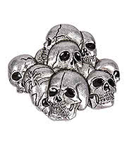 Blue Banana Pile Of Skulls Belt Buckle