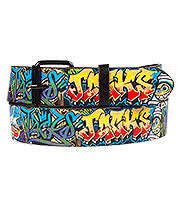 Blue Banana Grafitti Belt (Black)