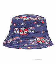 Blue Banana Owls Canvas Festival Hat (Blue)