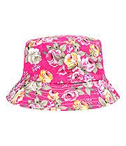 Blue Banana Flowers Canvas Festival Hat (Pink)