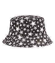 Blue Banana Stars Canvas Festival Hat (Black/White)