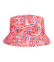 Blue Banana Paisley Canvas Festival Hat (Bright Pink)