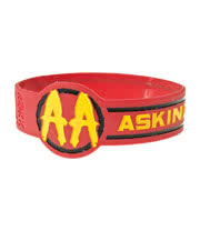 Asking Alexandria Die Cut Circle Logo Wristband (Red)