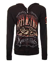 Affliction American Custom Cask Strength Reversible Hoodie (Black/Brown)