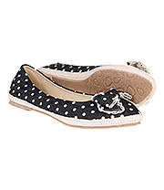 Blue Banana Polka Dot Pumps (Black)