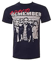 A Day To Remember Retro T Shirt (Navy)