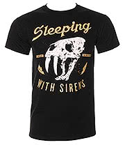 Sleeping With Sirens Beast Skull T Shirt (Black)