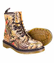 Dr Martens Tattoo Sleeve 8 Hole Boot (Multi)
