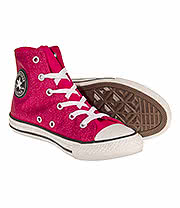 Converse Kids All Star Hi Top Boots (Pink Glitter)
