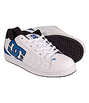 DC Shoes Net Trainers (White/Blue/Black)