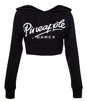 Pineapple Crop Dance Hoodie (Black)