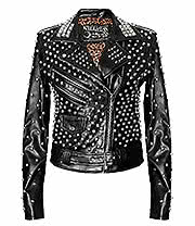 Kill Star Vicious Studded Vegan Leather Jacket (Black)