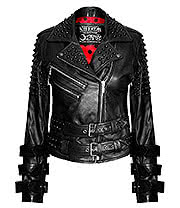 Kill Star Buckled Leather Jacket (Black)