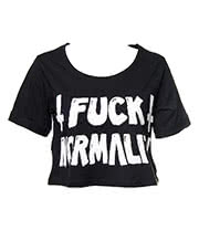 Kill Star Normal Crop Top (Black)
