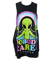 Kill Star Nobody Cares Muscle Tank (Black)