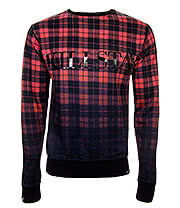 Kill Star Tartan Sweatshirt (Red)
