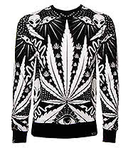 Kill Star Space Grass Sweatshirt (Black)