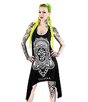 Kill Star Kali Racerback Dress (Black)