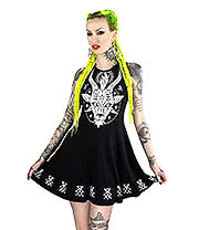 Kill Star Horny Skater Dress (Black)