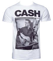 Johnny Cash Guitar T Shirt (White)