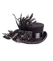 Hawkins Dressage Top Hat With Veil (Black)