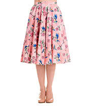Hell Bunny Lacey 50's Skirt (Pink)