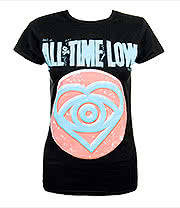 All Time Low Candy Heart Skinny T Shirt (Black)