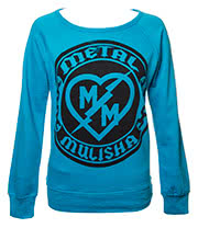 Metal Mulisha Maidens Bolt Crew Neck Fleece (Aqua)