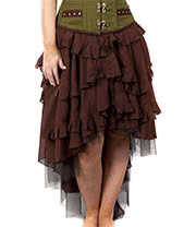 Burleska Ophelie Chiffon Skirt (Brown)