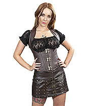 Burleska Biker Skirt (Brown)