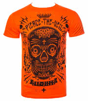 Pierce The Veil Sugar Skull T Shirt (Orange)