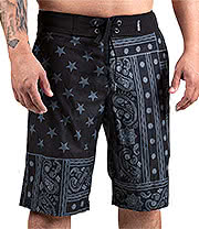Famous Stars And Straps Pazer Board Shorts (Black)