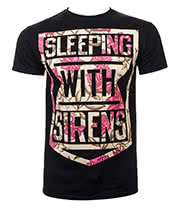 Sleeping With Sirens Floral T Shirt (Black)