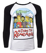 A Day To Remember Simpsons T Shirt (Multi)