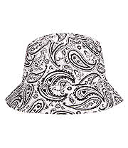 Blue Banana Paisley Canvas Festival Hat (White)