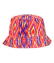Blue Banana Canvas Bucket Hat (Neon Orange/Pink)