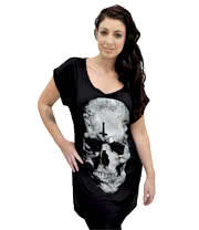 Blue Banana Skull Cross Dress (Black)