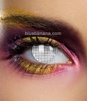 Edit Mesh 90 Day Coloured Contact Lenses (White) Pair