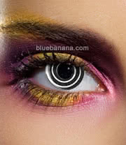 Edit Spiral 90 Day Coloured Contact Lenses (Black) Pair
