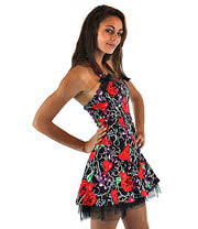 H&R Pink Skully Mini Dress (Black/Pink)