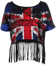 Jawbreaker UK Flag Shred Top (Black)