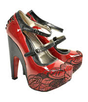 T.U.K Red Patent Platform Shoes