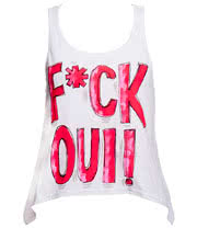 Abbey Dawn F*ck Oui Vest (White)