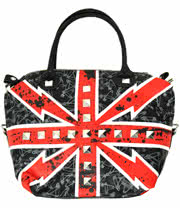 Abbey Dawn Flag Days Studded Bag (Red/Blue)