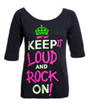 Abbey Dawn Keep It Loud Top (Black)